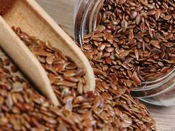 Sell flax seeds brown harvest 2018 year