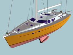 Aluminium Sail-motor yacht 49 ft