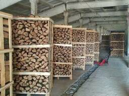 Firewoods in crates
