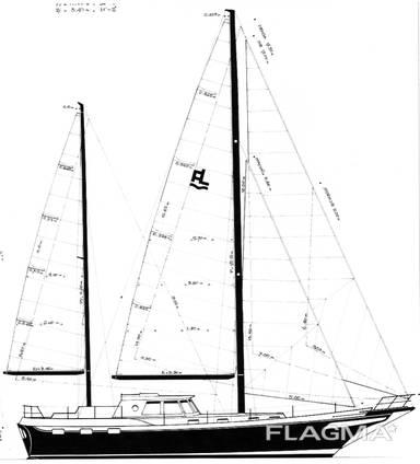 Motorsailer Alibi49 with aluminium hull
