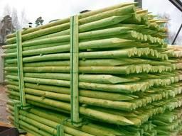 Rounded pine pillars