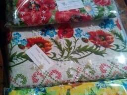 Скатерти. полотенца в украинском стиле, лён-рогожка - фото 4