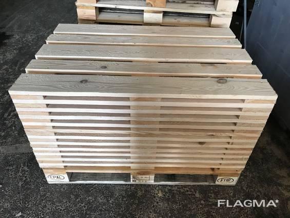 Верхний настил поддона деревянного ( крышка) 800*1200